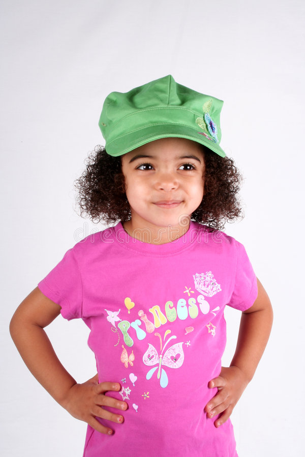Girl in Green Hat royalty free stock photos