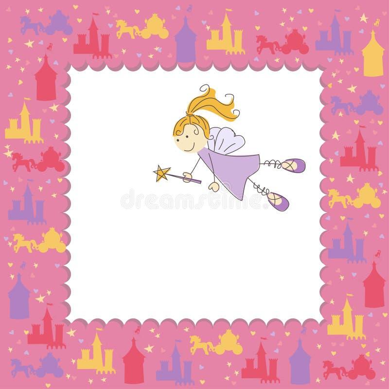 Girl Greeting Card With Fairy Stock Photos