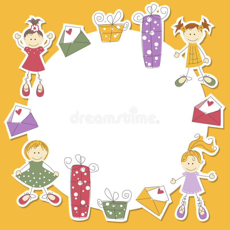 Download Girl Greeting Card, Vector Illustration Stock Vector - Image: 25528107