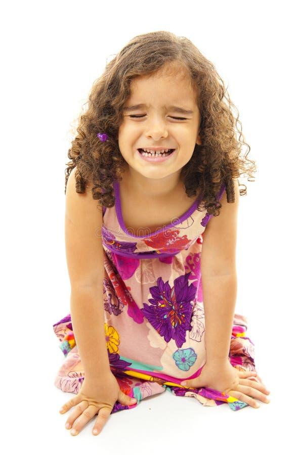 Girl Grimacing royalty free stock photo
