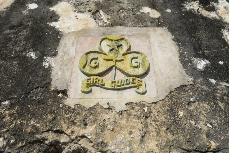 Girl Guides Ancient Emblem in Afrika Sansibar lizenzfreie stockbilder