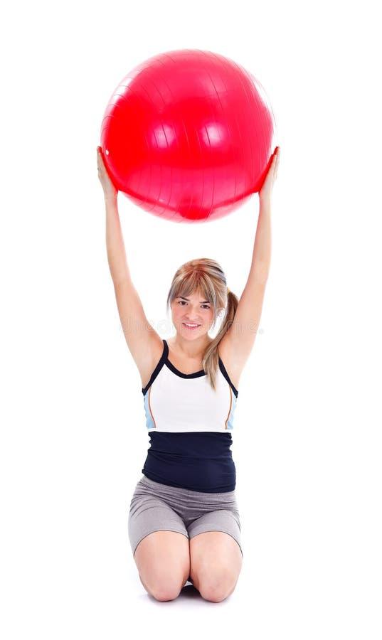 Download Girl at the gym stock photo. Image of girl, smile, ball - 23971742