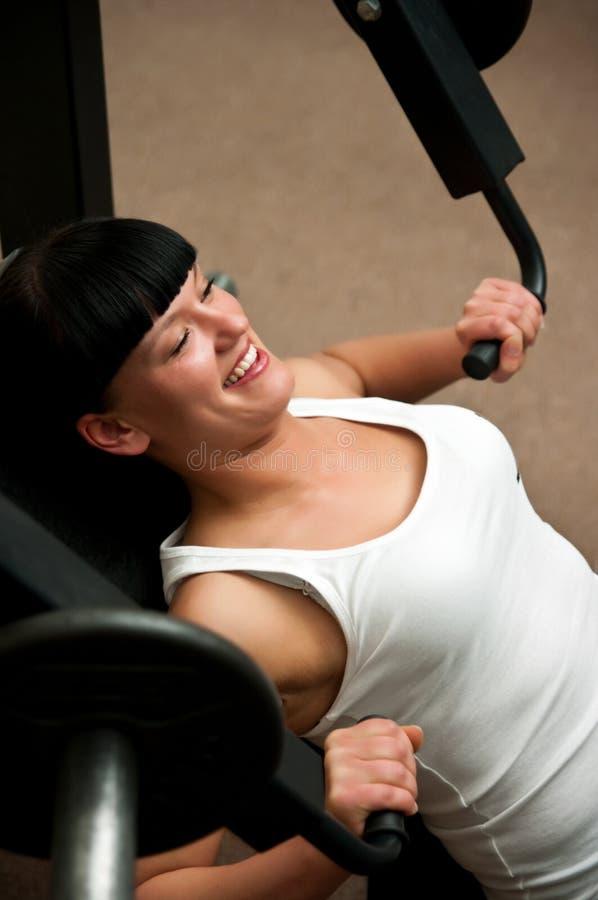 Girl In Gym Stock Photo