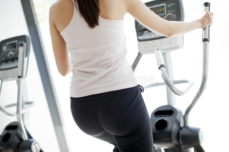 Download Girl at the gym stock image. Image of tracksuit, casual - 24838069