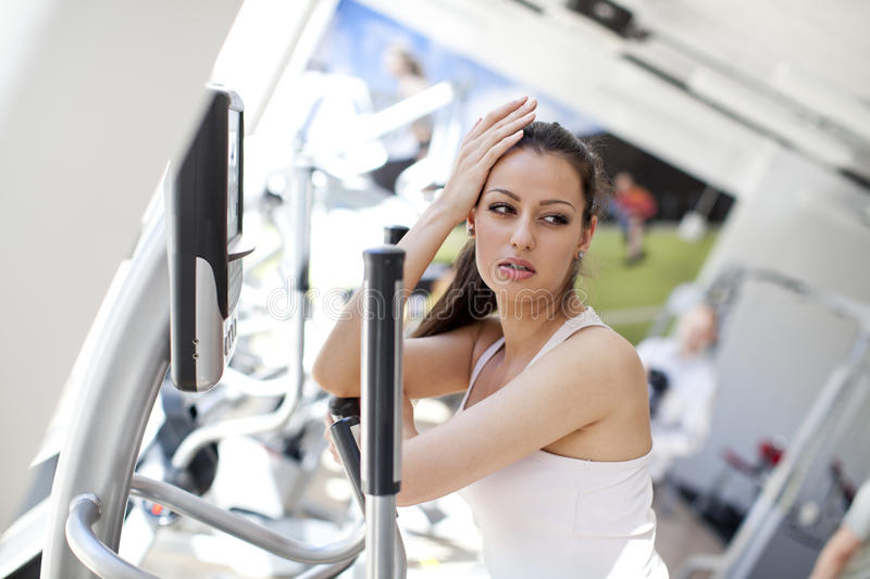 Download Girl in the gym stock image. Image of female, people - 24838181