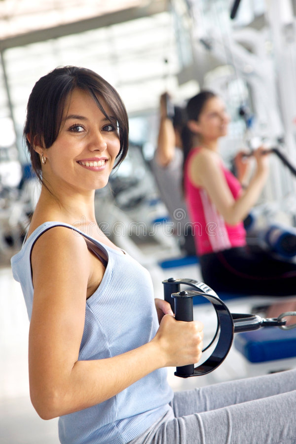 Download Girl at the gym stock photo. Image of girl, losing, healthy - 8573022