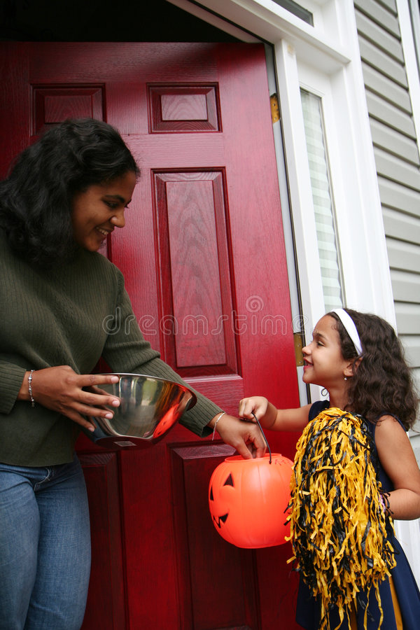 Girl in Halloween Costume stock photography