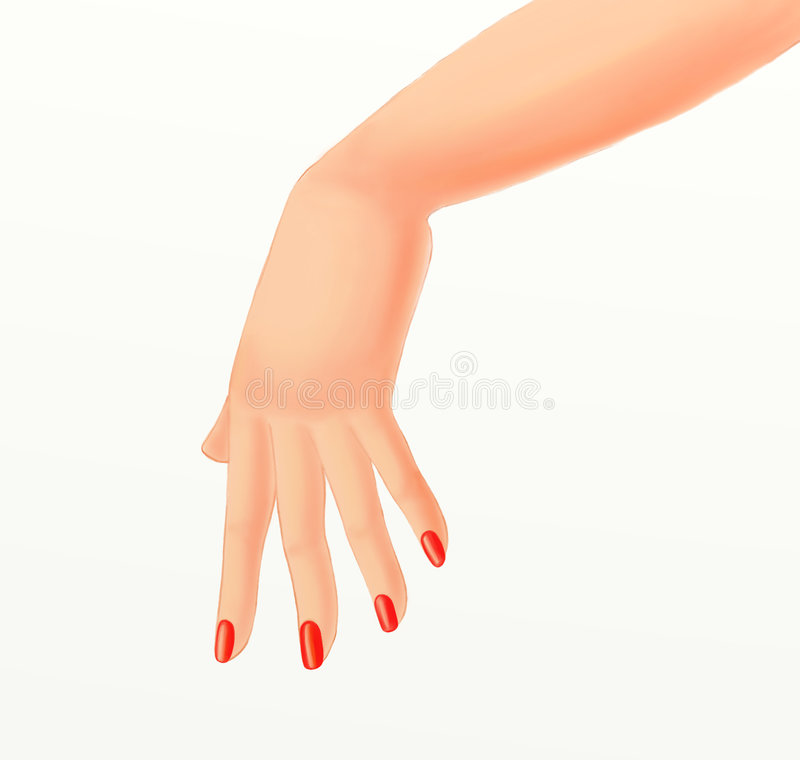 Download Girl hand stock illustration. Illustration of isolated - 7079402