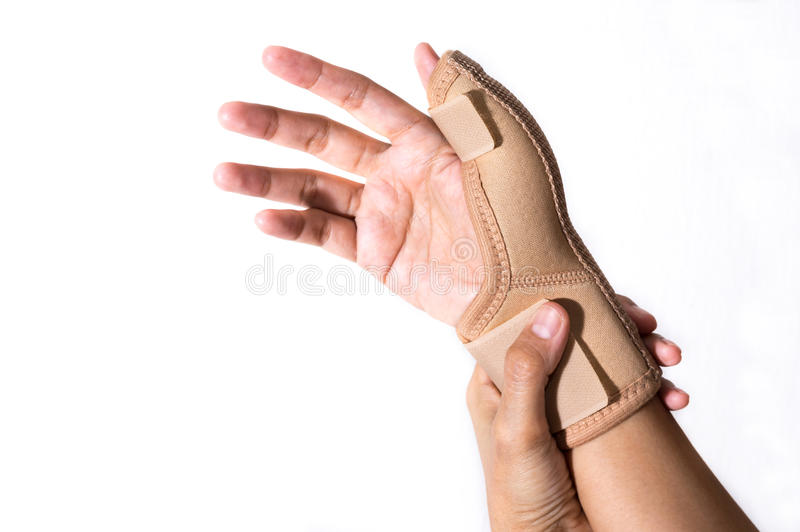 Girl with Hand-support,health care. stock images