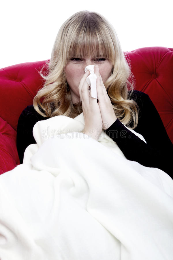 Download Girl With Hanky And Illness Stock Image - Image: 27191297