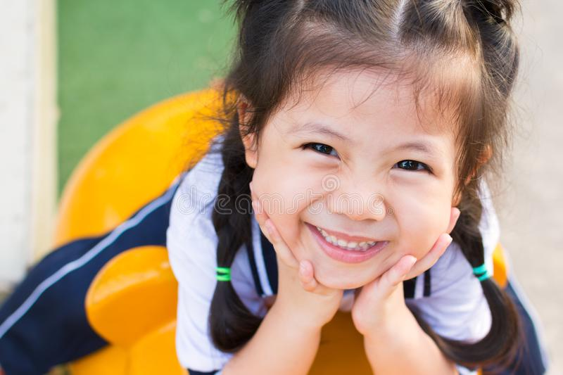 Smilling Cute a Little Asian Girl stock images