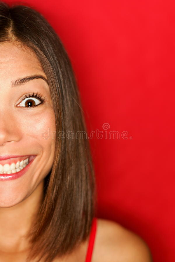 Girl happy excited royalty free stock photography