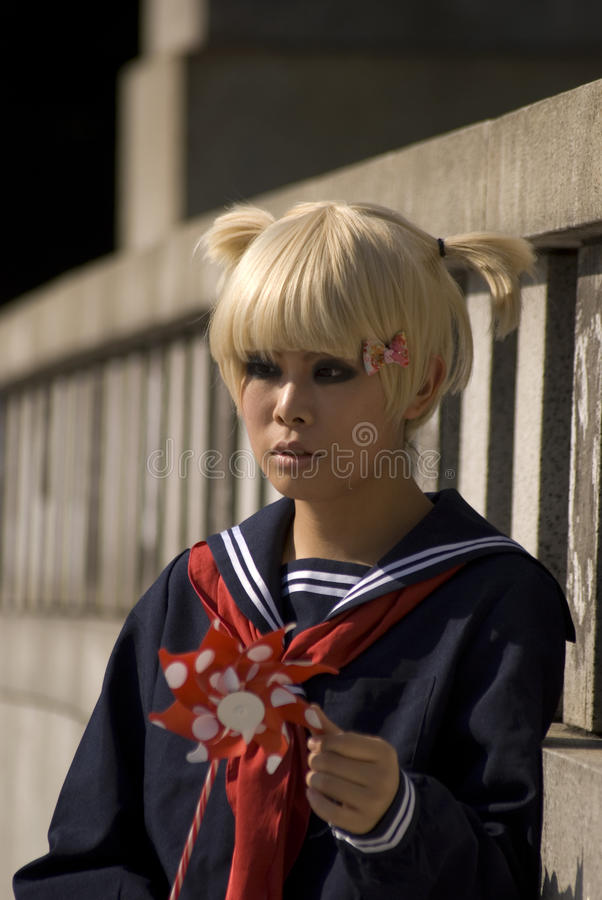Girl in Harajuku, Tokyo, Japan royalty free stock photo