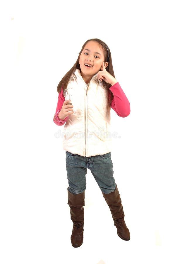 Girl Has A Brainstorm. Royalty Free Stock Photos