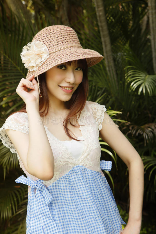 Download Girl in hat stock image. Image of asian, female, face - 16151659