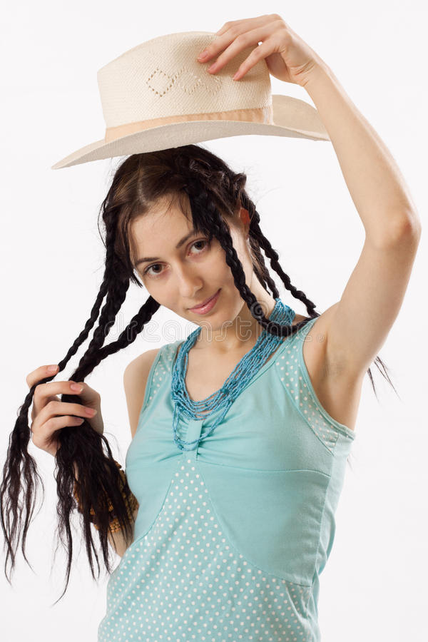 Download Girl In A Hat On Royalty Free Stock Images - Image: 17896229