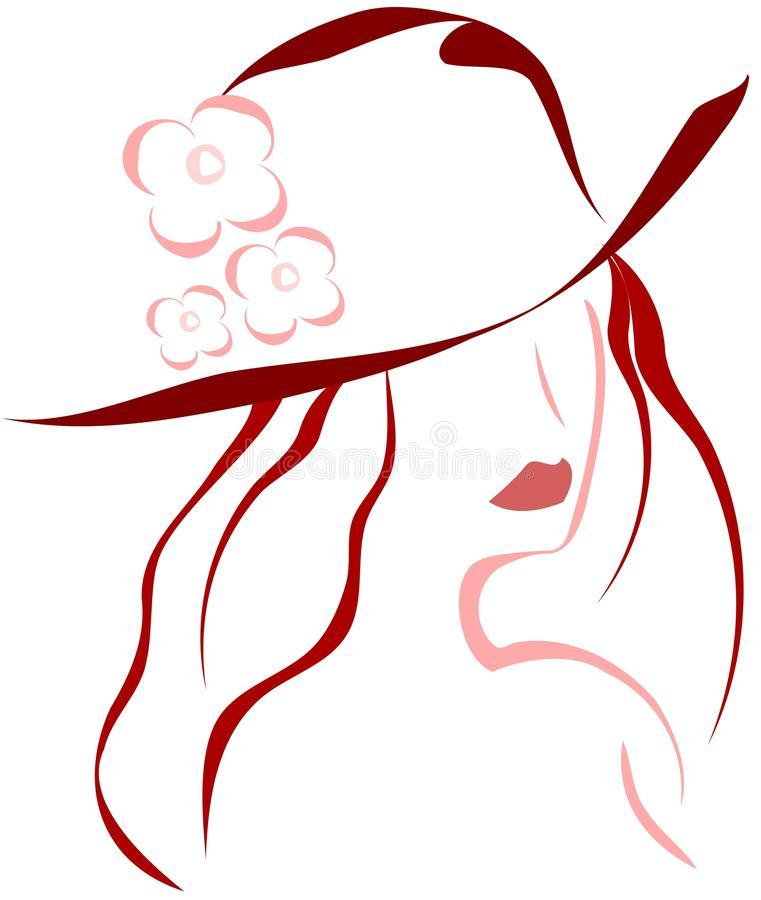 Download Girl with hat stock vector. Image of attractive, adult - 33976710
