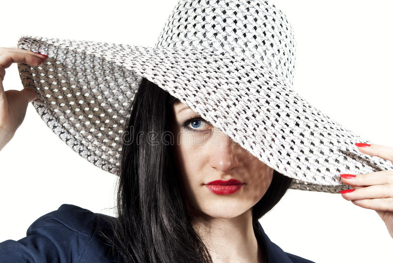 Download Girl In The Hat Looks Royalty Free Stock Photo - Image: 24067635