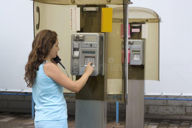 Girl having a call stock photos