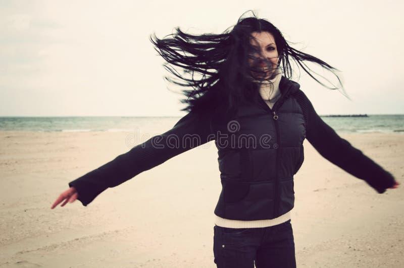 Girl having fun royalty free stock photography