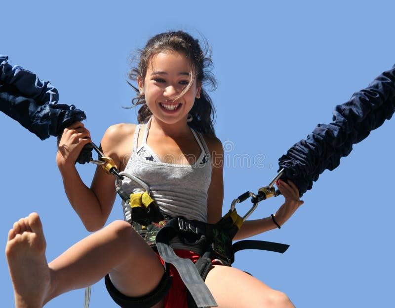 Girl having fun stock photography