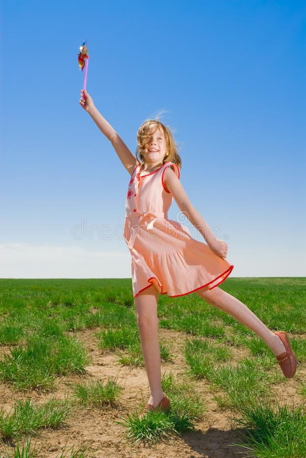 Girl having fun royalty free stock images