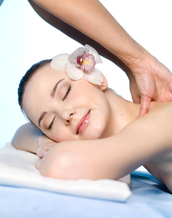 Download Girl Having Massage And Pleasure Stock Image - Image: 18886797
