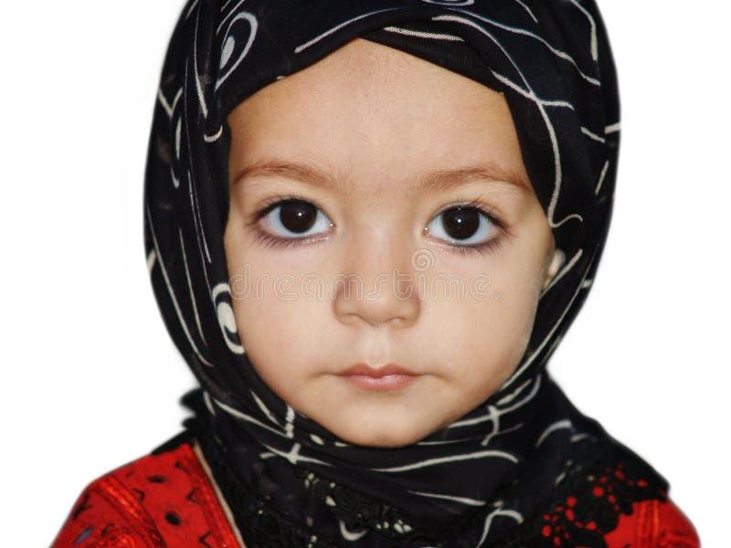 Girl with a head wrap stock photos