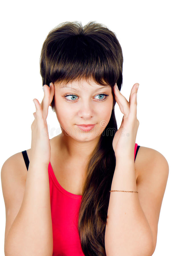 Download Girl with a headache stock photo. Image of sick, pain - 21843074