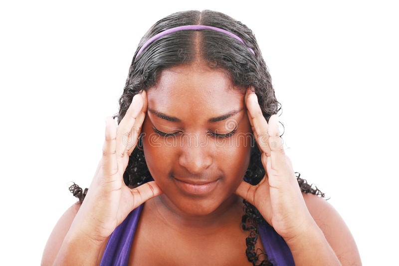 Download Girl with headache stock photo. Image of multiracial - 24537060