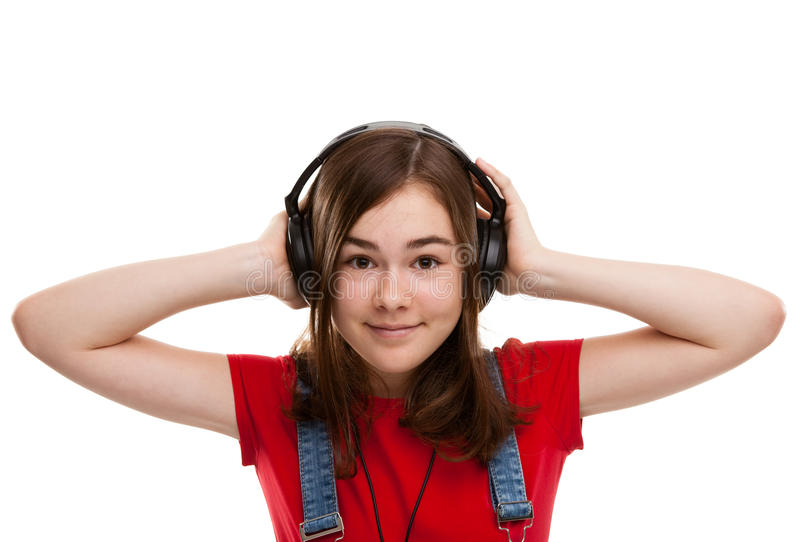 Download Girl With Headphones Royalty Free Stock Photo - Image: 16426305