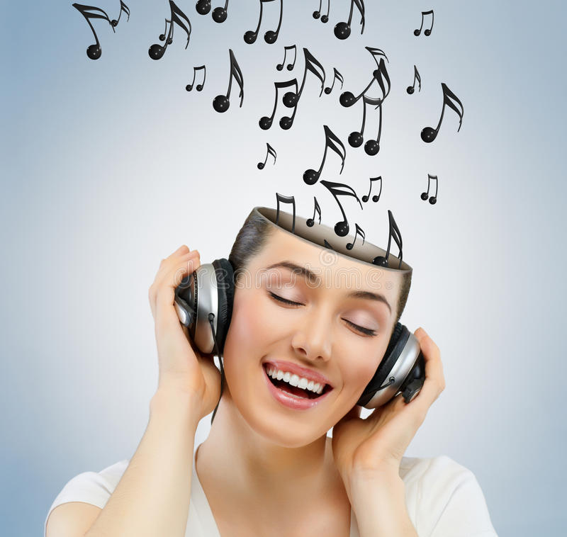 Download Girl With Headphones Royalty Free Stock Photography - Image: 27474997