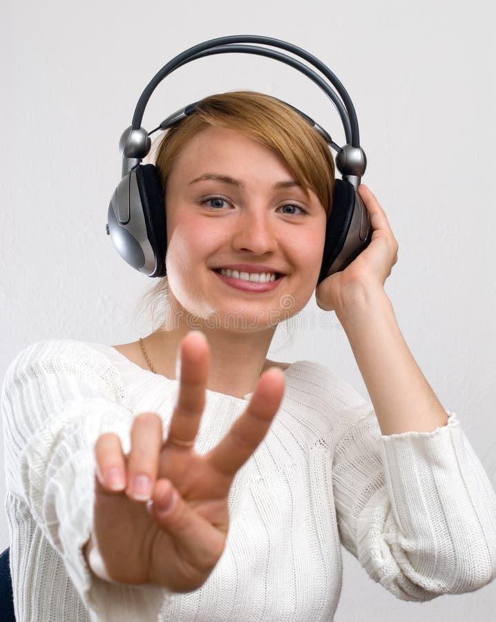 Download Girl with headphones stock photo. Image of headphone, happiness - 907566