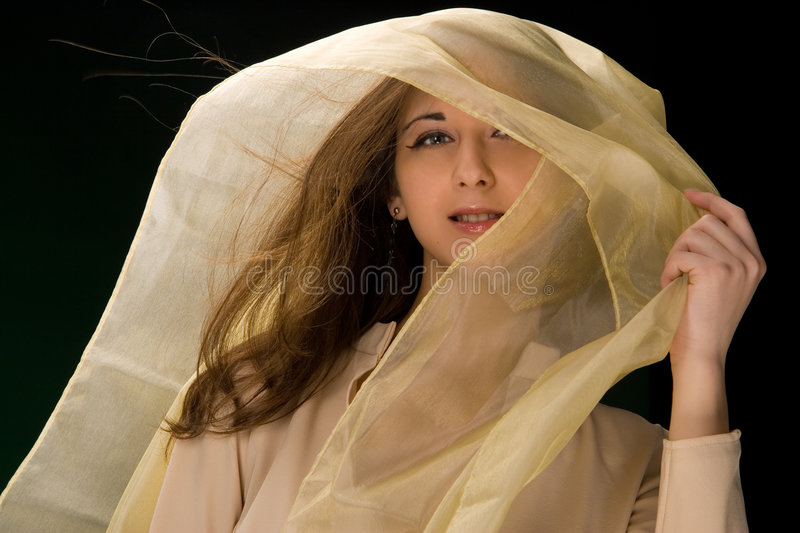 girl with headscarf stock images
