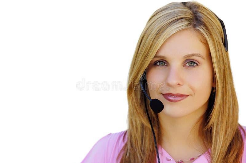 girl headset στοκ εικόνα με δικαίωμα ελεύθερης χρήσης