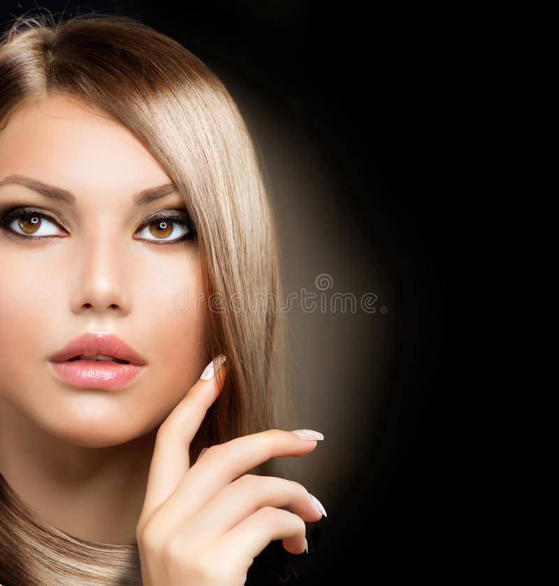 Download Girl With Healthy Long Hair Stock Image - Image: 25882385