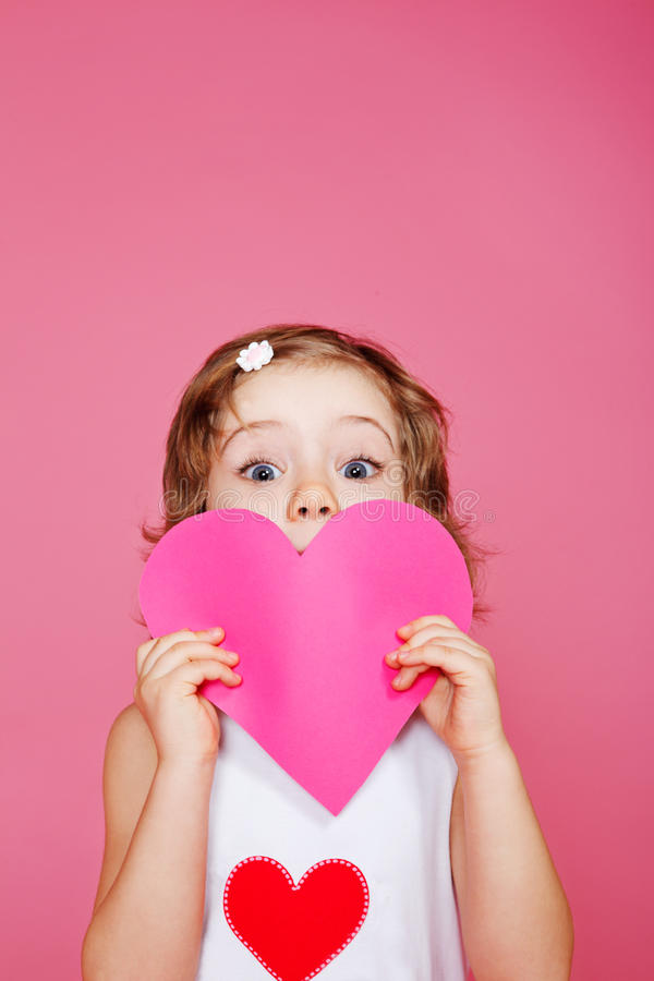 Download Girl with heart stock image. Image of excited, holding - 23134041
