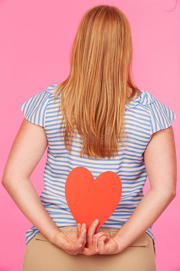 Download Girl with Heart stock image. Image of icon, ornamental - 26279685