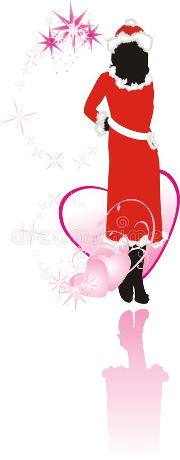 Download Girl And Hearts. Romance Composition Stock Photo - Image: 7098070