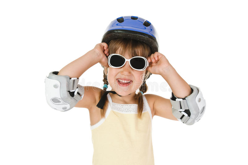 Girl In Helmet Royalty Free Stock Photography