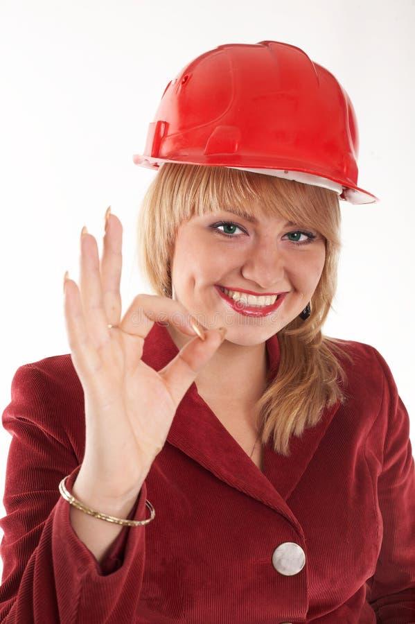 Girl in helmet royalty free stock images