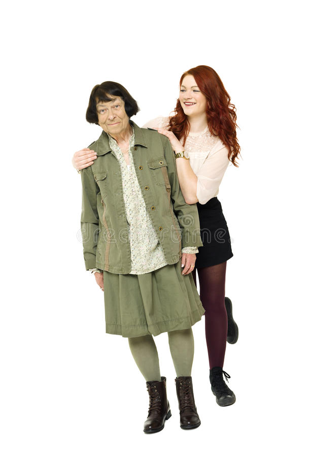 Download Girl With Her Grandmother Royalty Free Stock Photography - Image: 28058837