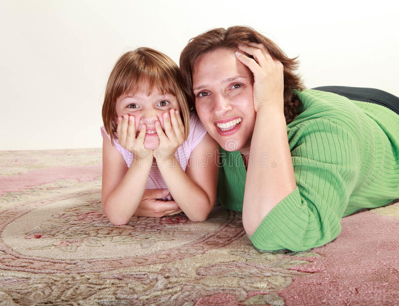 Download Girl with her Mom stock image. Image of hugging, play - 28054479