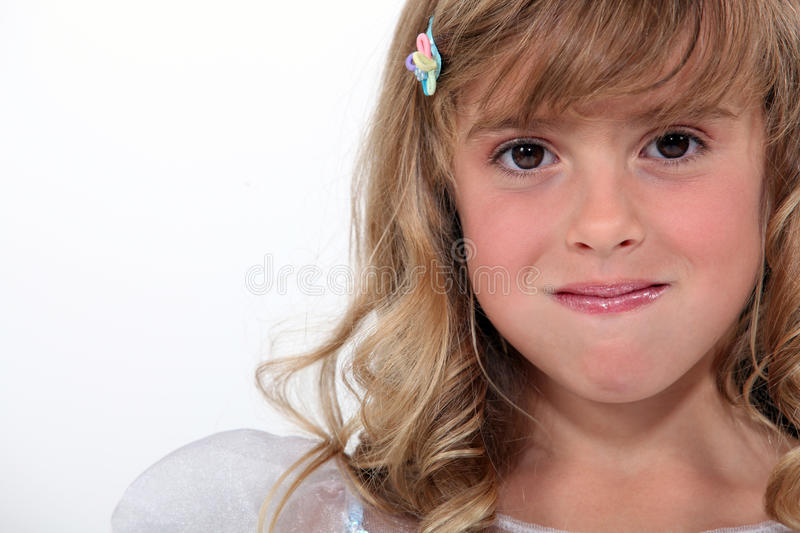 Girl With Her Mouth Full Stock Photo
