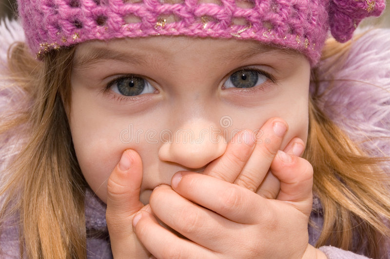 Download Girl with her mouth shut stock image. Image of human, negation - 4811379