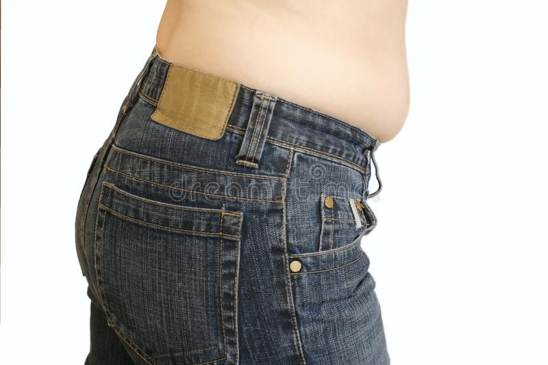 Girl and her problem waist stock image