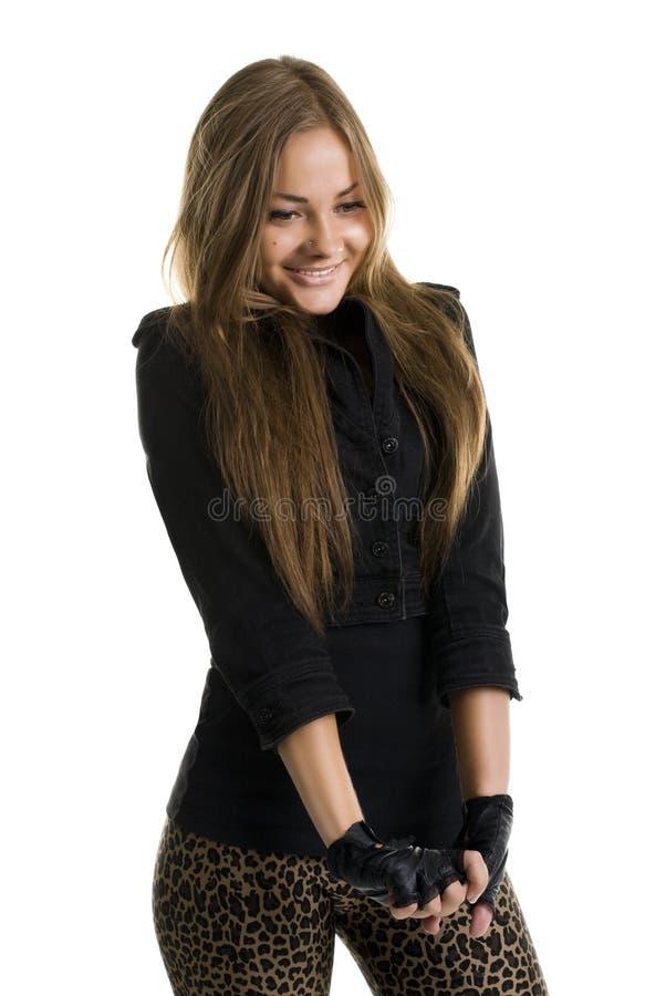 Girl hesitates royalty free stock image