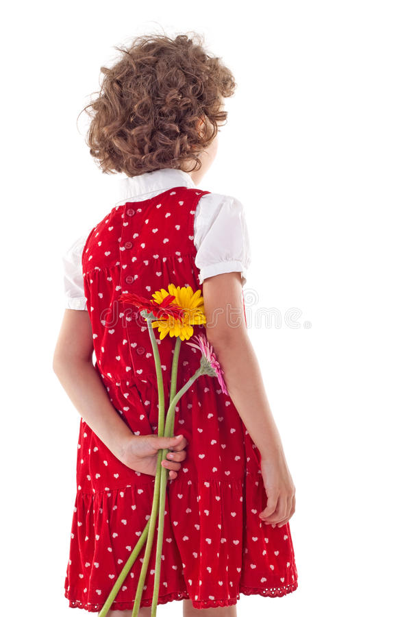 Download Girl Hiding Flowers For Mother's Day Stock Image - Image of mommy, people: 18411653