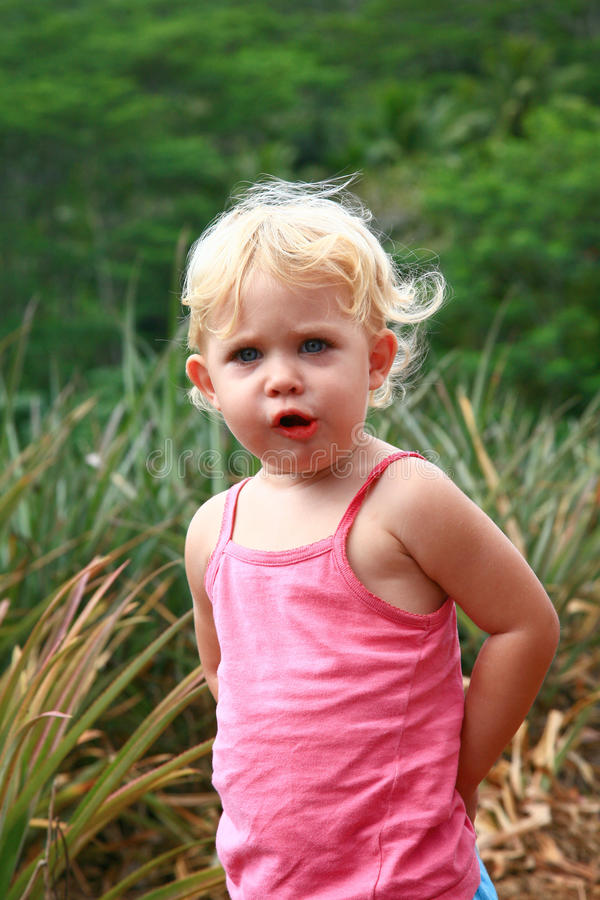 Download Girl hiding hands stock image. Image of blond, nature - 13323375