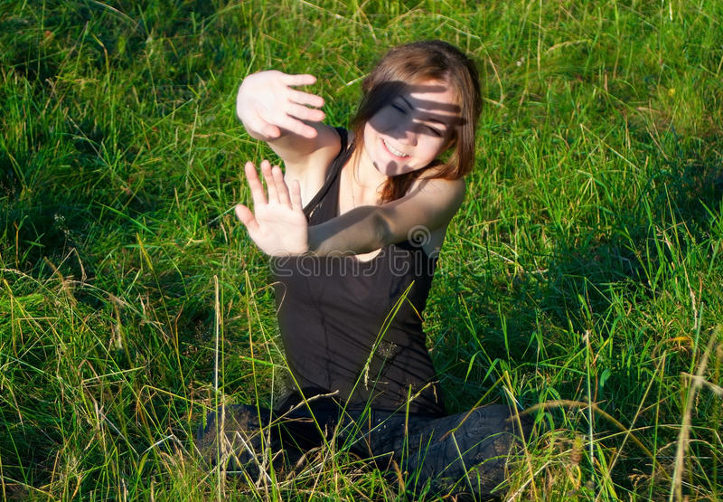 Download Girl hiding from sun stock image. Image of face, fresh - 34299619